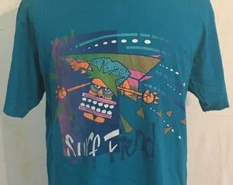 SALE 25% OFF Vintage Ocean Pacific - Surf Fiend  1980's t-shirt - Surfing - Surfer - Hawaii (XL)