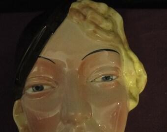 Marlene Dietrich Cermic Wall Mask   art deco