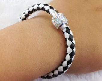 Leather Braided Cuff Bracelets