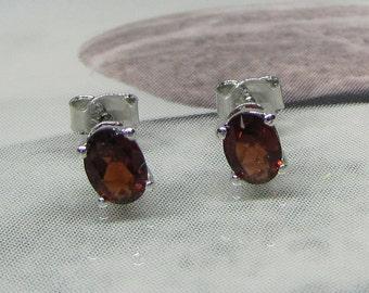 Natural Garnet 925 Sterling Silver earrings