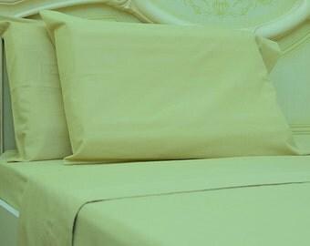 Goza Cotton 190 Gram Heavyweight Flannel Sheet Set Queen - Light Brown
