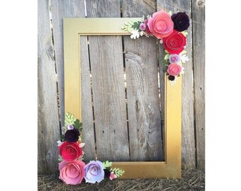 Gold Floral Frame, Photo booth prop