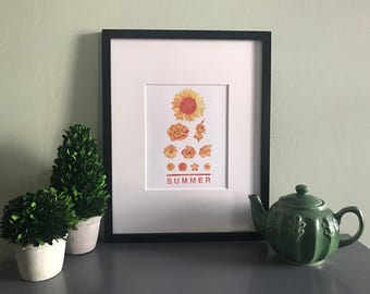 Summer Seasonal Eye Chart 8x10 Print