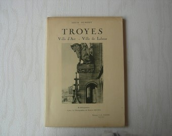 Old book Troyes. City of Art - work