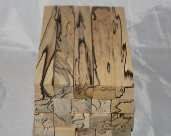 20 Pen Blanks, SPALTED POPLAR, Hand-Selected for Variety of Grains, Patterns, and Colors, Woodturning