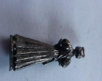 Vintage Pewter Queen Tudor? Historic Figure - Vintage Kitsch