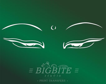 Oriental Stencil – Buddha's Loving Eyes #058