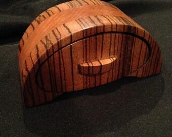 Dome Shaped Wooden Box - Zebra Wood