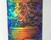 Pokemon M Charizard EX - 12/83 Mega Charizard Proxy handmade card! Near mint Holographic HANDMADE!