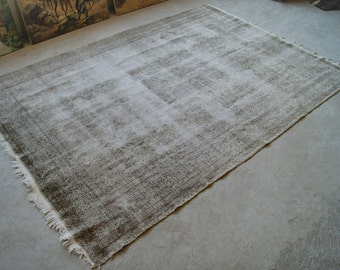 7'x10' Large Area Rug, Vintage Distressed Rug, Old Large Rug