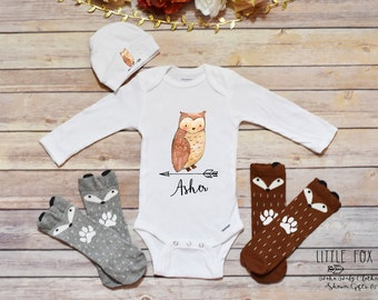 Personalized baby gifts owl etsy personalized onesie owl onesie owl gift personalized baby gift owl negle Choice Image