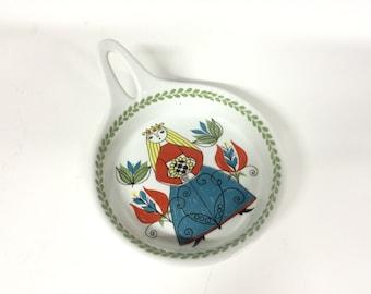 Figgjo Flint Saga dish with steel-Norwegian design-Vintage serve-Retro ceramics