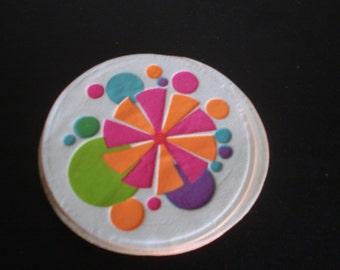 Vintage Hallmark 1970s Colourful Paper Coasters Set Of 9