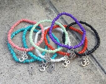 Om and Hamsa Charm Bracelet