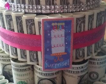 FTM Custom 3 Tier Bling Money Cake