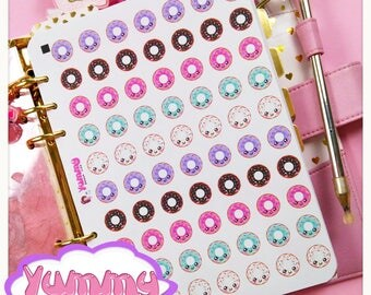 Kawaii Donuts Stickers Hole Reinforcements