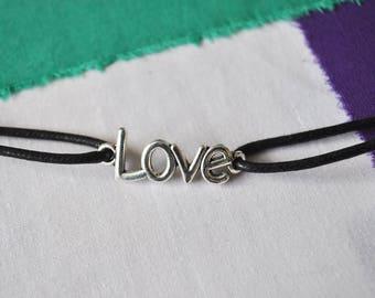 Handmade Black Love Choker
