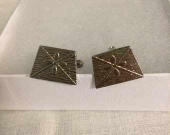 Vintage Silvertone men's retro cuff links