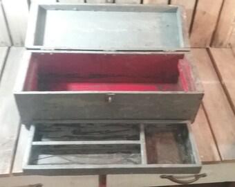 Vintage Tool Box/Wooden Tool Box/Wood Tool Box/Tool Box Vintage/Vintage Toolbox/Old Wooden Tool Box/Vintage Box/Wood ToolBox/Wooden Toolbox