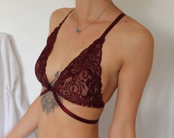 The Calypso Bralette- Burgundy