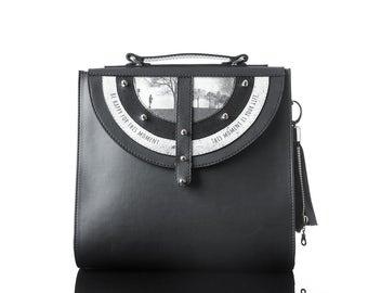 Black Tara (eco) | Handmade, Eco Leather Bag, Backpack, Print, Handbag