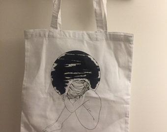 Anhedonia Tote Bag Girl Moon