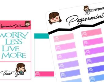 Mini H monthly Birthday Planner Stickers {#194}