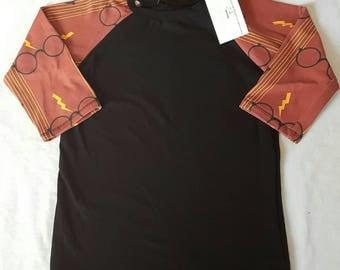 Harry Potter gryffindor  raglan size 7/8 baseball shirt, kids clothes, birthday gift, kids shirt,