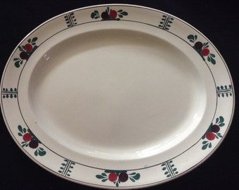 Vintage hand painted meat plate/platter