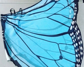 Butterfly Wings stunning festival fun for all, ideal birthday present or Christmas gift. Girls superhero cape.