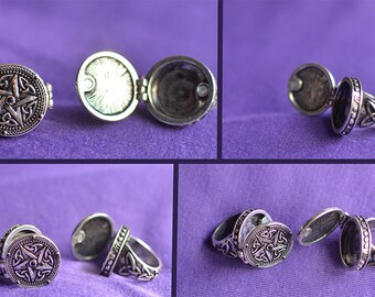 Mens Goth, Rock, Skull, Eyeball, Silver coloured Metal style rings, Various designs.