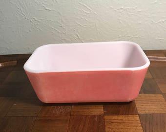 Vintage Pyrex Refrigerator Dish - Flamingo Pink - 502 - no lid