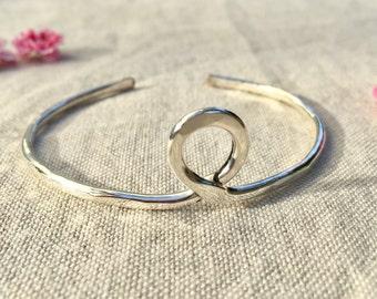 Silver loop cuff
