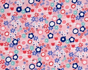 Sweet Emma Flower Drift Pink Fabric by Michael Miller