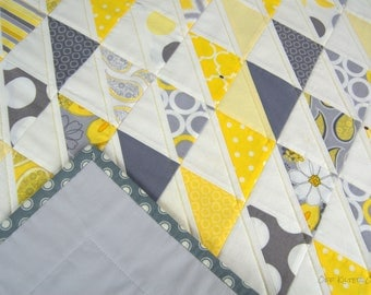 Yellow and Gray Baby Quilt