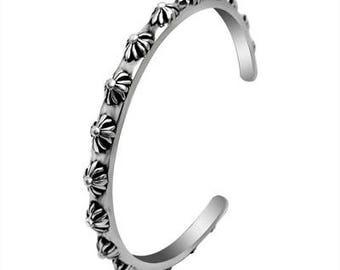 Retro Cuff Titanium Bangle for Men | BraceletsDR