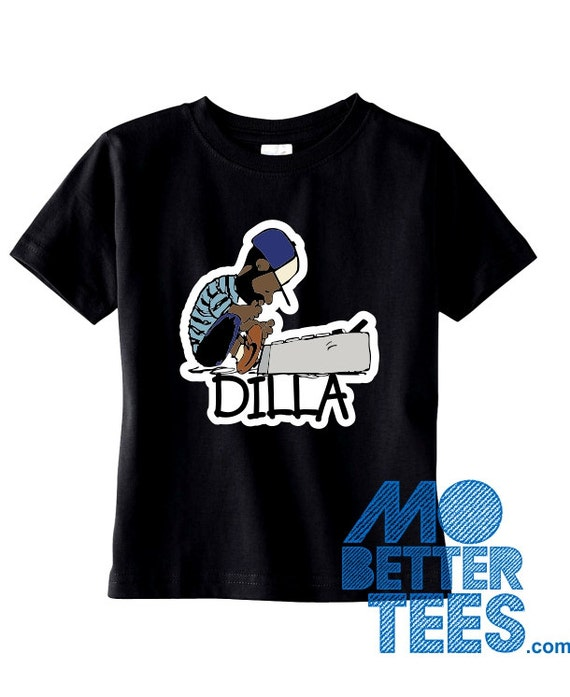 J Dilla Black Toddler or Youth T-Shirt Doughnuts Shining Graphic Tee Jay Dee SV Hip-Hop super producer
