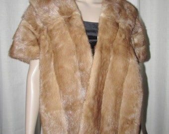 Vintage beautiful pastel mink fur stole  Étole de vison pastel vintage