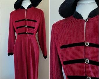 SALE Vintage Gingham Print Dress