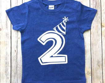 Boys Birthday shirt, birthday tshirt, 2nd birthday, 1st birthday, 3rd birthday, birthday hat