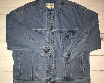 Eddie Bauer Denim Jean Jacket Women's Large