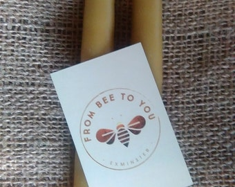 10 x Pure 100% Beeswax Hand Dipped Candles