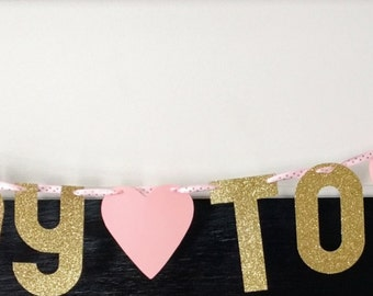 READY TO POP baby shower banner!