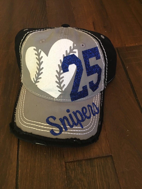 Baseball Bling Hat Custom Sports Mom Baseball Mom Hat