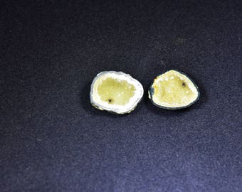 Tiny Tabasco Geode, Matching Pair