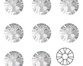 Swarovski 2058 Xilion Rose Foiled Flat Back No Hotfix Crystal All Sizes