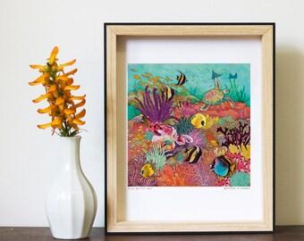 A4 Art Print - Great Barrier Reef
