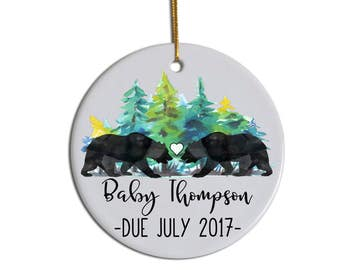 Expecting A Baby Christmas Ornament Pregnancy Announcement