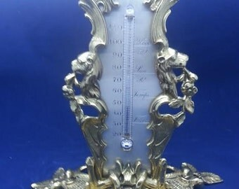 Thermometer Victorian Circa 1880 -1900 Register Resilvered & Refurbished