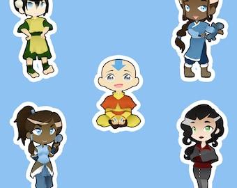 Avatar The Last Airbender / Legend of Korra Keychain (Aang, Katara, Toph, Korra, Asami)
